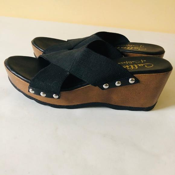 b4263b1d2e Callisto Shoes | Of Carlifornia Wood Wedge Sandals | Poshmark